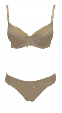 Ensemble soutien-gorge push up bonnet B et string