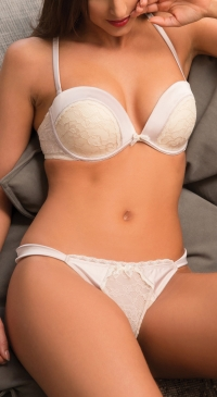ensemble soutien gorge pushup bonnet B-C  - string nude
